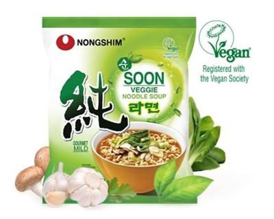 veggie ramyun noodle soup