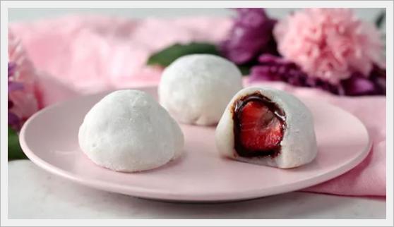 mochi deser z ryżu kleistego