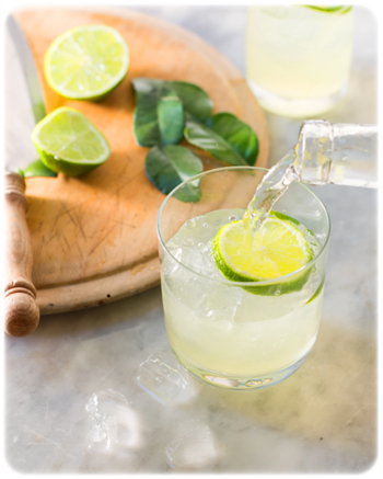 drink with kaffir lime
