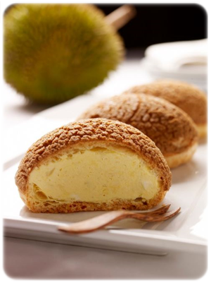 cake with durian cream