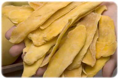 suszone zielone mango