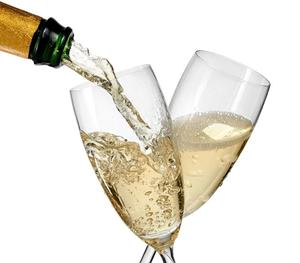 wino białe musujące