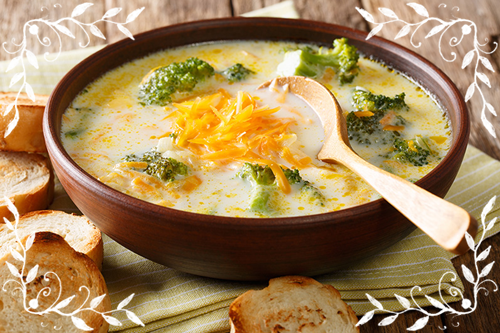 cheddar soup with broccoli