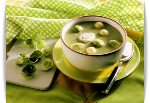 brussels sprouts cream soup