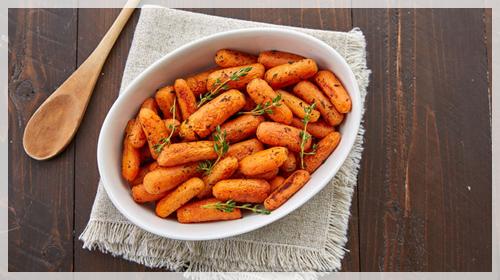 mini carrots warm salad