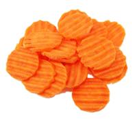 frozen corrugated  carrots