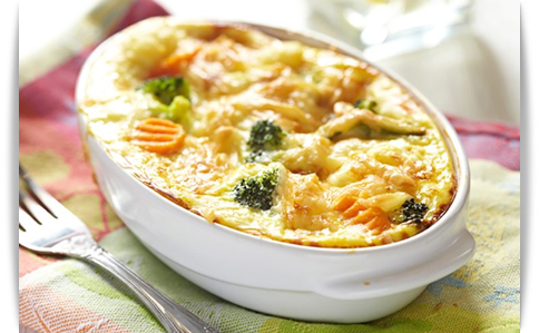 baked vegetables with cream