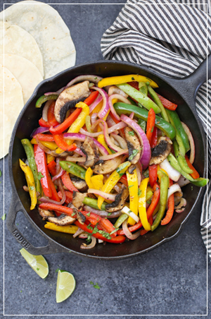 mexican dish with peppers