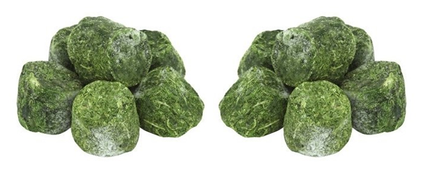 frozen spinach portioned