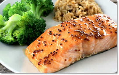 salmon with mustard seeds