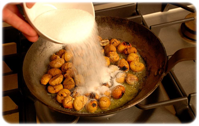 kasztany prażone na słodko