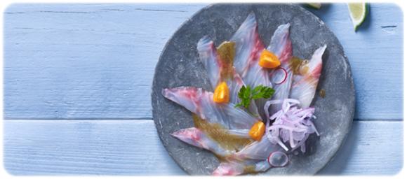 carpaccio z ryby z sosem ponzu