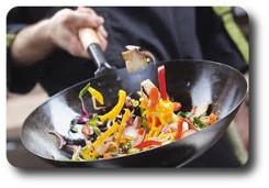 wok ze stali  węglowej