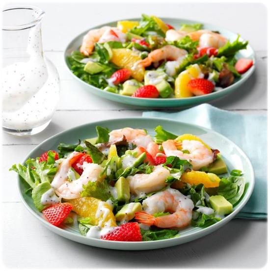 refreshing prawn salad