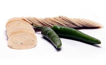 pappadums green chilli
