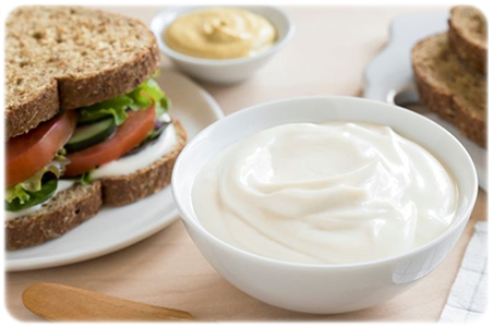 sandwich with vegan mayonnaise