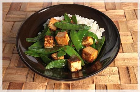 stir fry pea pods with tofu