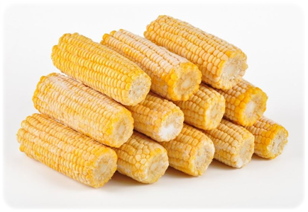 Frozen corn on the cob