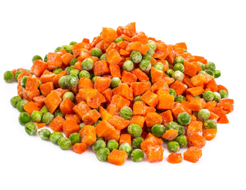 frozen carrots and peas
