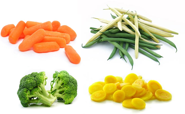 Frozen catering mix vegetables