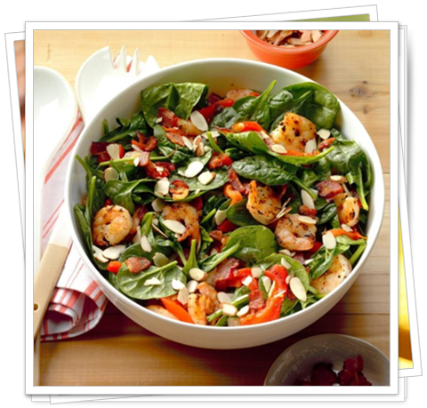 spinach leaves salad