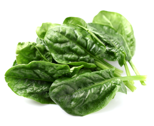frozen portioned spinach leaves