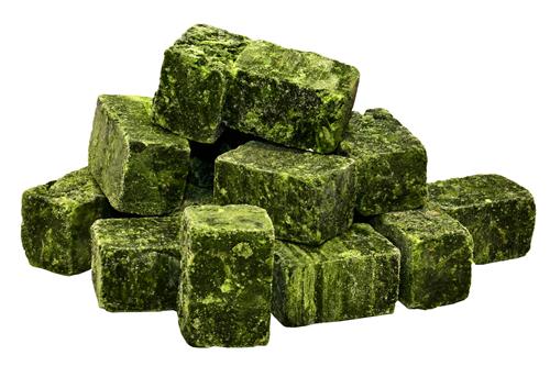 frozen spinach briquette