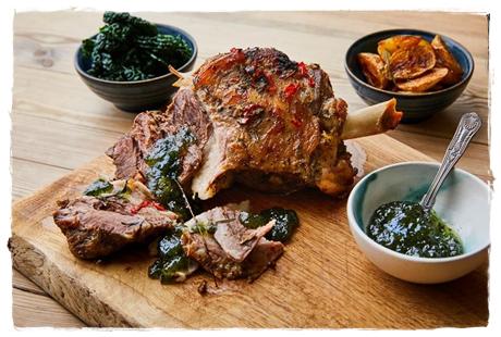 lamb with colmans mint sauce
