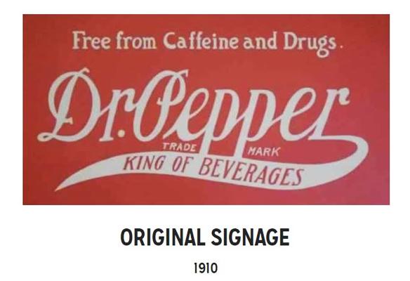 dr pepper signage