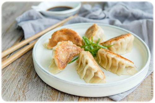 seafood gyoza dumplings