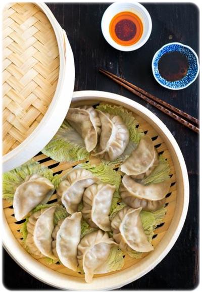 vegatarian gyoza dumplings