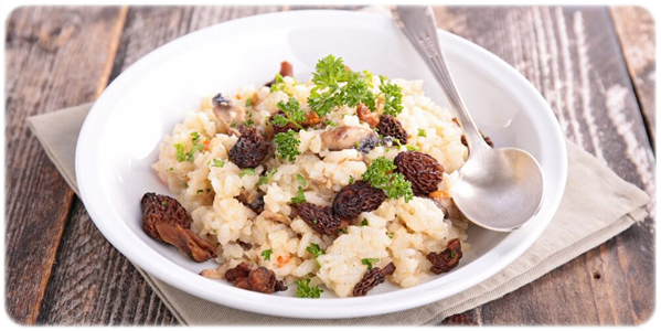 risotto with morel mushroom